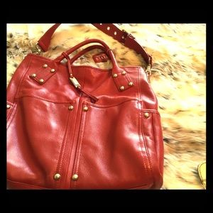Red leather NWT purse! Steve Madden.